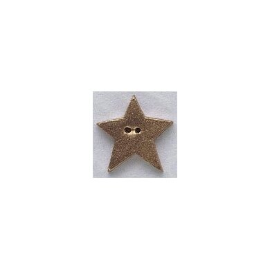 Mill Hill Button 86291 - Large Star - Gold