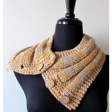 Crosstown Buttoned Cowl Knitting pattern by Melissa Martinez ...