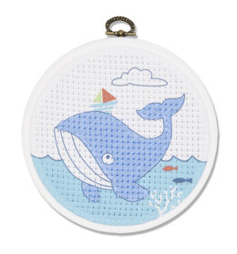 DMC The Whale Cross Stitch Kit (with 5in plastic hoop)