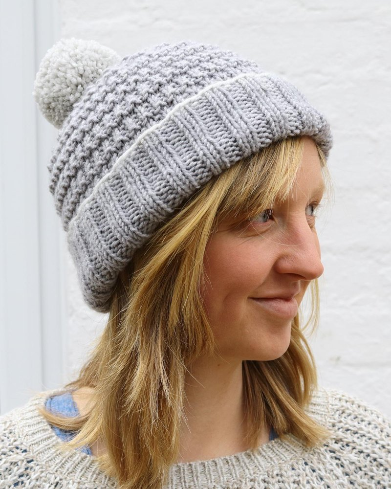 Alexis Hat With Bobble For Adults And Children Knitting