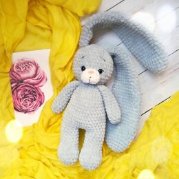 Crochet bunny pattern, amigurumi plush hare tutorial in English