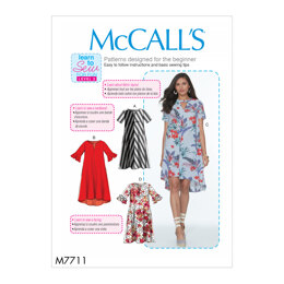 McCall's Misses' Dresses M7711 - Paper Pattern All Sizes In One Envelope