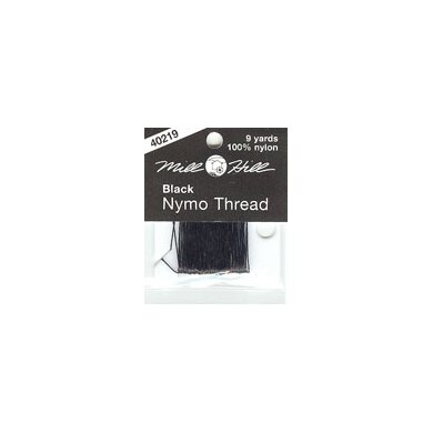 Mill Hill Nymo Thread for Beading, Black 9yds