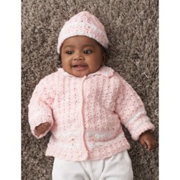 Daisy Chain Cardigan & Hat in Patons Beehive Baby Sport