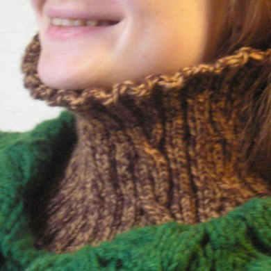 Easy Reversible Cabled Worsted Neckwarmer
