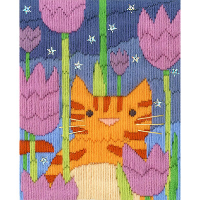 Bothy Threads Long Stitch Cats - Tiger Emboidery Kit