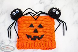 Spider Pumpkin Hat