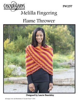 Flame Thrower in Cascade Yarns Melilla Fingering - FW257 - Downloadable PDF