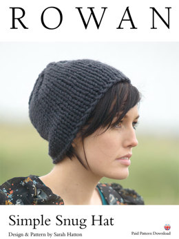 Simple Snug Hat in Rowan Big Wool - D130 - Downloadable PDF