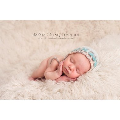 Easy Newborn Mohair Bonnet