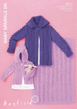 Jacket and Blanket in Hayfield Baby Sparkle DK - 4537