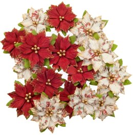 Prima Marketing Mulberry Paper Flowers - Kris Kringle/Christmas In The Country