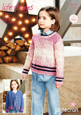 Cardigan & Sweater in Stylecraft Life Changes & Life DK - 9544 - Downloadable PDF