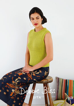 """Margarita Top"" - Top Knitting Pattern For Women in Debbie Bliss Sita"