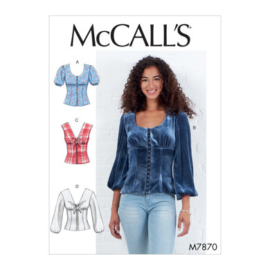 McCall's Misses' Tops M7870 - Sewing Pattern