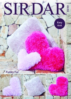 Cushions in Sirdar Funky Fur - 8240 - Downloadable PDF