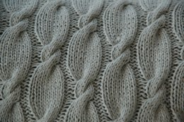 Double Cable Baby Blanket