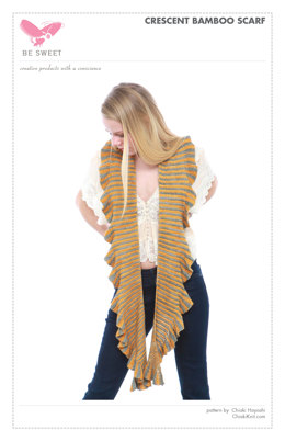 Crescent Bamboo Scarf in Be Sweet Bamboo - Downloadable PDF