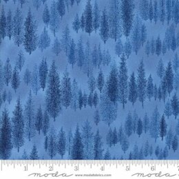Moda Fabrics Forest Frost Glitter II Winter Metallic Trees Sky Light Blue
