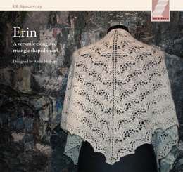 Erin Shawl  in UK Alpaca Super Fine 4 Ply - Downloadable PDF