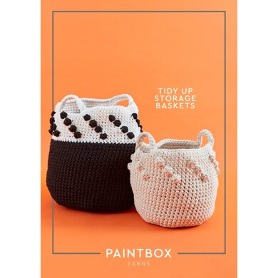 Tidy Up Storage Baskets in Paintbox Yarns Recycled T-Shirt - Downloadable PDF