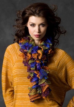 Flirty Knit Scarf in Red Heart Boutique Sashay - LW3036