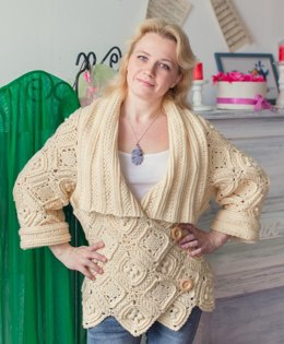 Yellow crochet cardigan