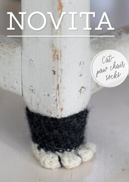 Cat Paw Chair Socks in Novita Natura - Downloadable PDF