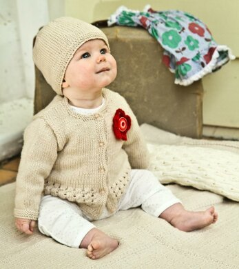 Indiana Cardi and Hat by Little Cupcakes - Bc40