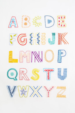 Stitch Alphabet  in DMC - PAT0150 -  Downloadable PDF