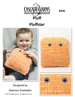 Pluffster Toy in Cascade Yarns Pluff - B246 - Downloadable PDF