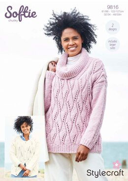 Women Cardigans in Stylecraft Softie - 9816 - Downloadable PDF