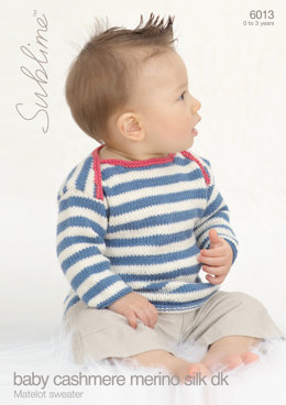 Matelot Sweater in Sublime Baby Cashmere Merino Silk DK - 6013 - Downloadable PDF