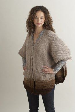Over Easy Poncho in Lion Brand Wool-Ease
