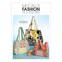 McCall's Tote Bag In 3 Sizes M5822 - Paper Pattern Size One Size Only