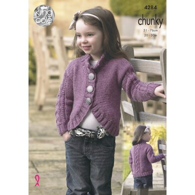 Cardigans in King Cole New Magnum Chunky - 4284 - Downloadable PDF