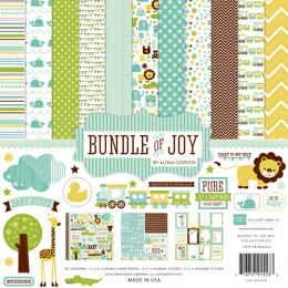 "Echo Park Paper Echo Park Collection Kit 12""X12"" - Bundle Of Joy Boy"