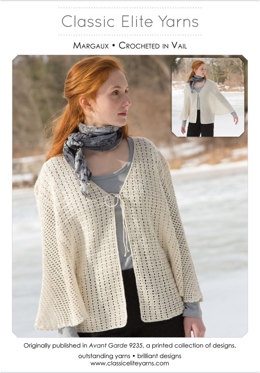 Margaux Cardigan in Classic Elite Yarns MountainTop Vail - Downloadable PDF