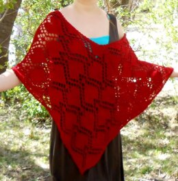 Majestic Queen of Hearts Poncho