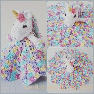 Lavender Unicorn Snuggle Blanket Crochet Pattern By Stitchwitchcreations