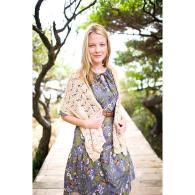 Shoreline Lace Shawl in Lion Brand Cotton-Ease - 90046AD