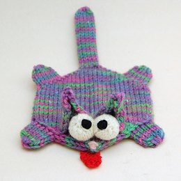 Splat Cat Amigurumi Plush Toy Coaster Pattern