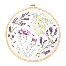 Hawthorn Handmade Highland Heathers Embroidery Kit - 7in