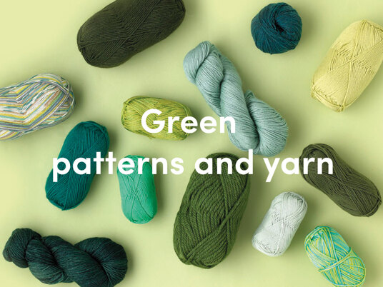 Green yarns and patterns
