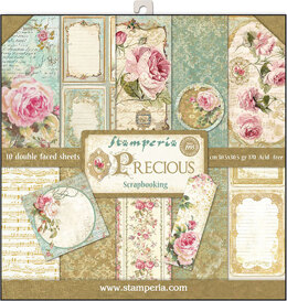 "Stamperia Intl Stamperia Double-Sided Paper Pad 12""X12"" 10/Pkg - Precious Gift, 10 Designs/1 Each"
