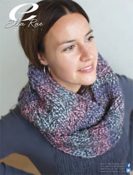 Textured Infinity Scarf in Ella Rae Twist - ER12-01 - Downloadable PDF