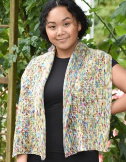 English Garden Rectangular Shawl  in Cascade Yarns Merino Dream - FW268 - Downloadable PDF
