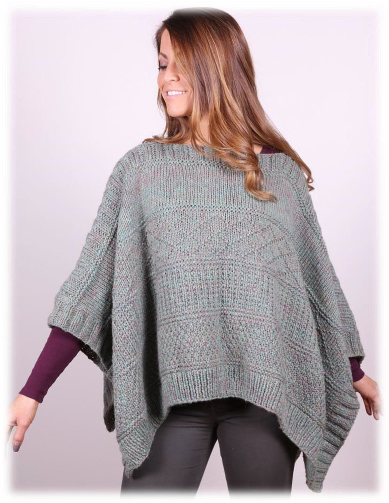 Poncho In Plymouth Yarn Tuscan Aire 3035 Downloadable Pdf