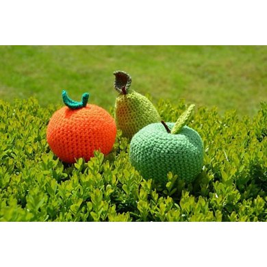 Fruit Crochet Pattern, Fruit Amigurumi: Apple Crochet Pattern, Pear Crochet Pattern, Orange Crochet Pattern