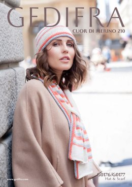 Hat & Scarf in Gedifra Dolce 85 - G0176/ G0177 - Downloadable PDF